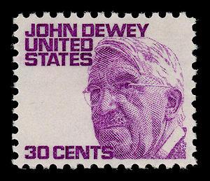 English: US stamp honoring John Dewey